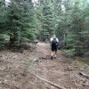 Hiking along the Mormon Mountain trail