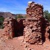 Ruins of Pete Berry's cabin at Horseshoe Mesa
