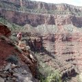 On the edge on the Boucher trail