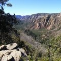 Looking down Oak creek canyon
