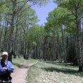 Hiker on the Kachina trail