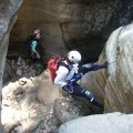 Rappeling in Bear canyon