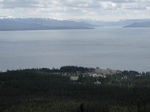 View of the Lake hotel from Elephant back mountain