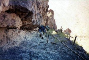 On the Picacho peak trail