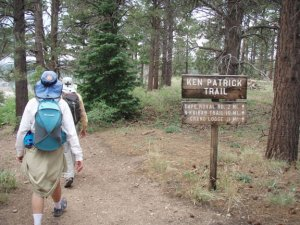 Hikers on the Ken Patrick trail