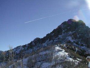 Browns Peak trail in the winter