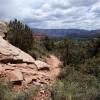 Hiking along Thunder Mountain trail