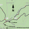 Campbell loop hikes: Map
