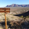 Views of the Superstition Mountain range from the Silly Mountain trail system