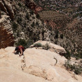 Scrambling up to Capitol Butte