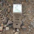 Sunrise mountain trail marker