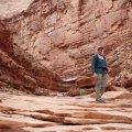 Hiker exploring North canyon