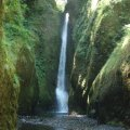 Waterfall at Oneonta gorge
