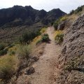 Along the pass mountain trail