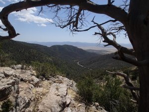 Views from the Yeager canyon trail