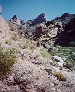 Flat iron (siphon draw trail)